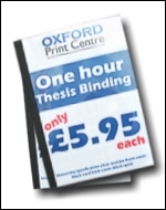 OXFORD PRINT CENTRE: One Hour Thesis Binding Oxford Hardback Thesis Binding Oxford Bookbinding